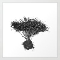 Floating Shrubbery Art Print