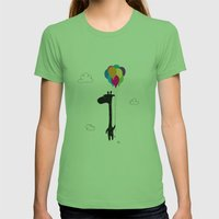 The Happy Flight Womens Fitted Tee Grass SMALL