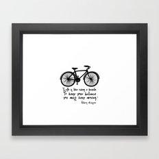 Life Is Like Riding A Bi… Framed Art Print