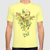 Another Strange World Mens Fitted Tee Lemon SMALL