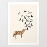Screaming Butterflies Art Print