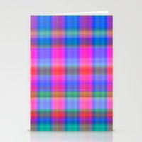 Misty Plaid  Stationery Cards
