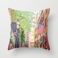 Historic Acorn Street, B… Throw Pillow