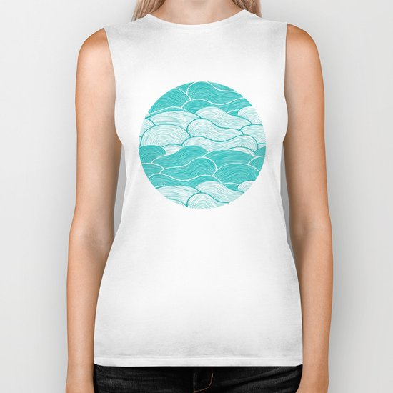 The Calm and Stormy Seas Biker Tank