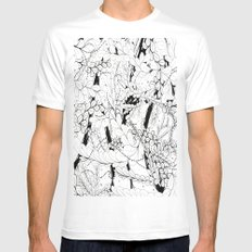 Leaves Mens Fitted Tee White SMALL