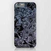 Snaky Fleur, Blue Fade iPhone 6 Slim Case