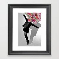 Dancing Flowers Framed Art Print