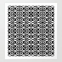 Black And White Tile 6/9… Art Print