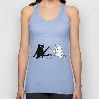 cat yoga Unisex Tank Top