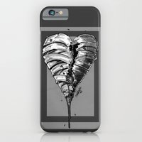 iPhone & iPod Case featuring Razor Blade Romance (Black and White Version) by Shawn Norton Art