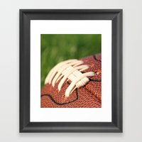 Football Leather & Stitc… Framed Art Print
