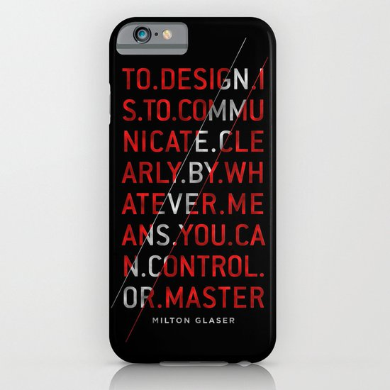 To Design by Milton Glaser iPhone & iPod Case