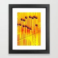 sıcak renkler Framed Art Print