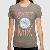 Sweet Mix Womens Fitted Tee Tri-Coffee SMALL