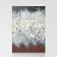 Pollock Rothko Inspired Black White Red Abstract Stationery Cards