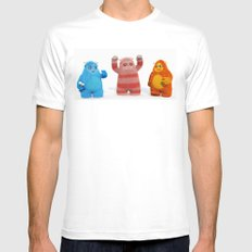 Yeti Attack Mens Fitted Tee White SMALL