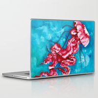 jellyfish Laptop & iPad Skins featuring Jellyfish by missfortunetattoo