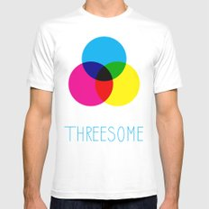 Threesome SMALL Mens Fitted Tee White