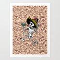DANCING CALAVERA  Art Print