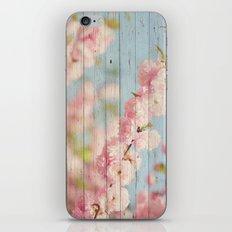 Sweet Flowers on Wood 04 iPhone & iPod Skin