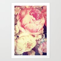 Vintage Flowers XXII - for iphone Art Print