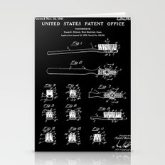 Toothbrush Patent - Black Stationery Cards