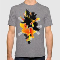 Illustration Mens Fitted Tee Tri-Grey SMALL