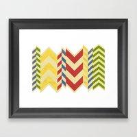 Myriad Chevrons Framed Art Print
