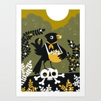 Berry Picker Art Print