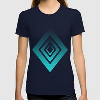 Trilesta Gamma Womens Fitted Tee Navy SMALL