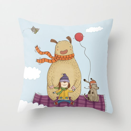 FLYING CARPET Throw Pillow