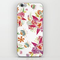 Tropical Flowers Waterco… iPhone & iPod Skin