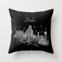 Dallas, Texas City Skyline Throw Pillow