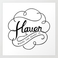 Haven | where the heart is Art Print