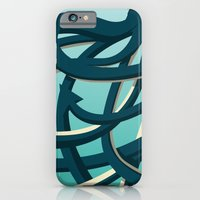 iPhone & iPod Case featuring Octopus blue by Philippe Nicolas