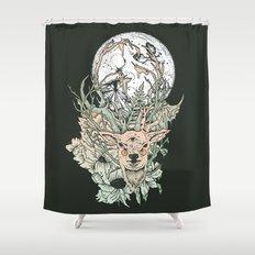 D E E R M O O N Shower Curtain