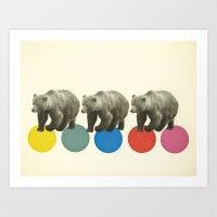 Wandering Bears Art Print