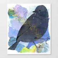 Vinter Fugl Canvas Print