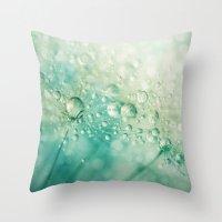 Seafoam Dandy Drops Throw Pillow