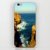 As the sunsets over the Limestone Cliffs iPhone & iPod Skin