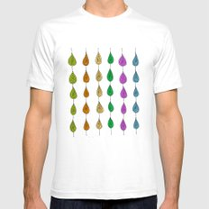 Candy Raindrops Mens Fitted Tee SMALL White