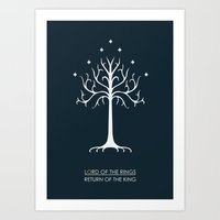 lord of the rings Art Prints featuring Lord Of The Rings ROTK by Jamesy
