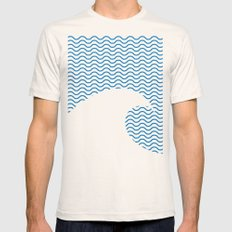 Wavy Wave Mens Fitted Tee Natural SMALL