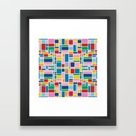 Stained Glass W Framed Art Print