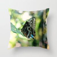 With A Broken Wing... Throw Pillow