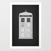 doctor who Art Prints featuring DOCTOR WHO by John Medbury (LAZY J Studios)