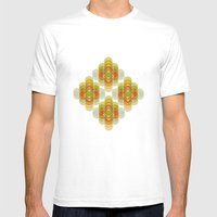 60's Pattern Mens Fitted Tee White SMALL