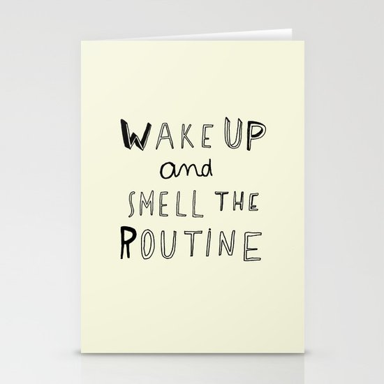 WAKE UP Stationery Card