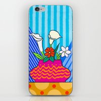 Four Flowers iPhone & iPod Skin