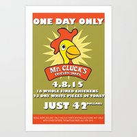 MR CLUCKS Art Print